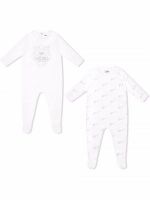 Logo pyjama double pack Kenzo Kids. Цвет: белый