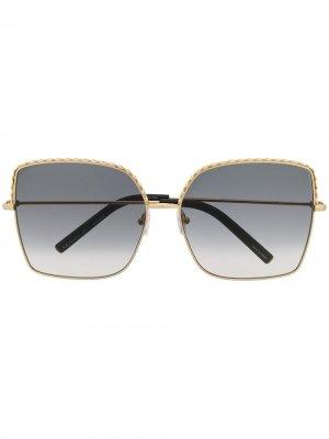 Солнцезащитные очки Linda Farrow. Цвет: золотистый
