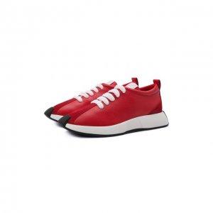 Кожаные кроссовки Ferox Giuseppe Zanotti Design. Цвет: красный