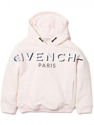 Худи с кулиской и логотипом Givenchy Kids. Цвет: розовый
