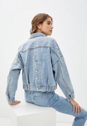 Куртка джинсовая Bad Queen. Цвет: голубой