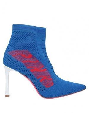 Полусапоги и высокие ботинки PINKO. Цвет: ярко-синий