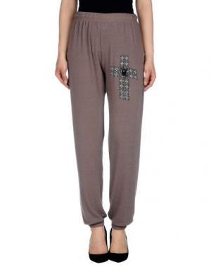 Повседневные брюки LAUREN MOSHI. Цвет: хаки