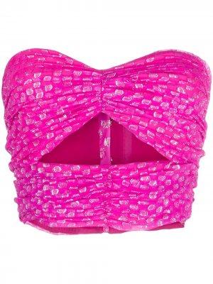 Укороченный топ с драпировкой Attico. Цвет: розовый