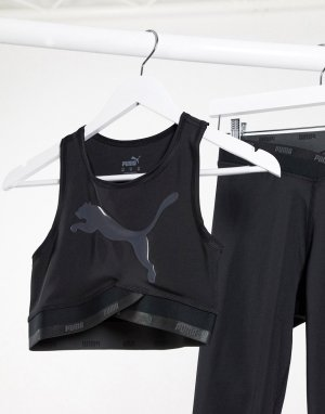Черный кроп-топ active essentials Puma