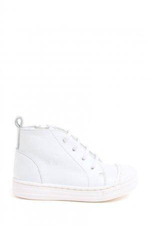 Белые кожаные кеды Bonpoint. Цвет: белый