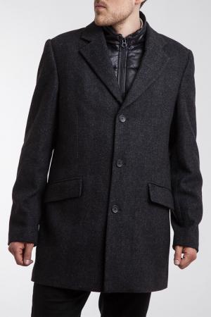 Пальто и жилетка Scotch&Soda. Цвет: серый