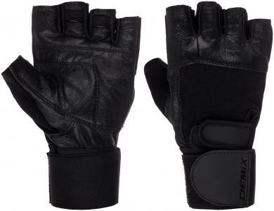 Перчатки атлетические с фиксатором Demix. Цвет: черный