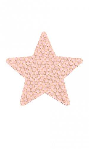 Накладки на соски rosey star Bristols6. Цвет: металлический золотой