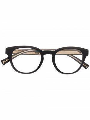 Очки трапециевидной формы Givenchy Eyewear. Цвет: черный