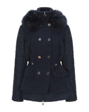 Пальто ELISABETTA FRANCHI ICY. Цвет: темно-синий