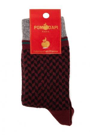 Носки с цветным узором Miller Harris. Цвет: красный