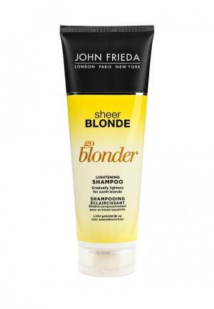Шампунь John Frieda Sheer Blonde Go Blonder осветляющий для натуральных, мелированных и окрашенных светлых волос 250 мл. Цвет: прозрачный