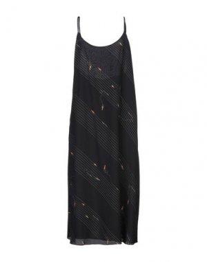 Платье длиной 3/4 BAND OF OUTSIDERS. Цвет: черный