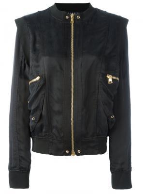 Куртка бомбер со структурированными плечами Balmain. Цвет: чёрный