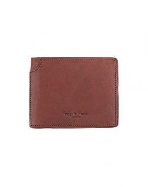 Бумажник RAG & BONE. Цвет: коричневый