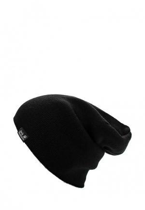 Шапка Jack Wolfskin RIB HAT. Цвет: черный