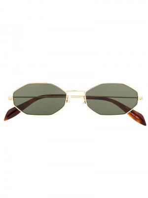 Солнцезащитные очки в металлической оправе Alexander McQueen