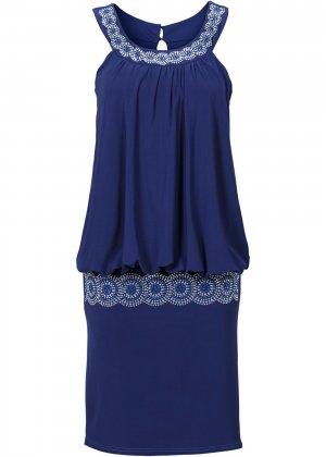 Коктейльное платье bonprix. Цвет: синий