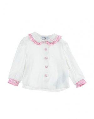 Pубашка MONNALISA. Цвет: белый