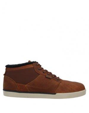 Высокие кеды и кроссовки ETNIES. Цвет: коричневый