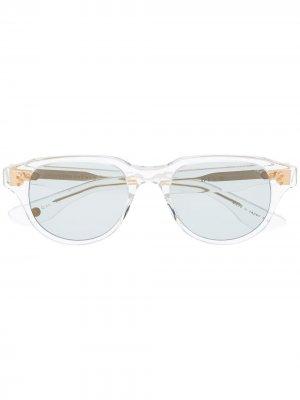 Солнцезащитные очки Telehacker в квадратной оправе Dita Eyewear. Цвет: нейтральные цвета