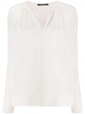 Блузка с V-образным вырезом Luisa Cerano. Цвет: нейтральные цвета