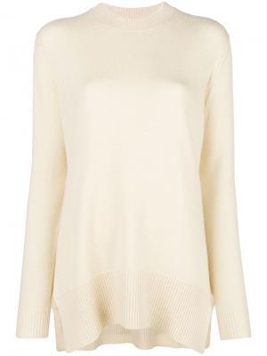 Asymmetric crew-neck sweater Derek Lam. Цвет: нейтральные цвета