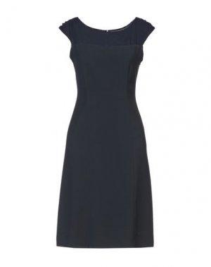 Платье до колена ANTONIO FUSCO. Цвет: темно-синий