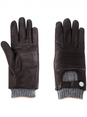 Перчатки со вставками Brunello Cucinelli. Цвет: коричневый