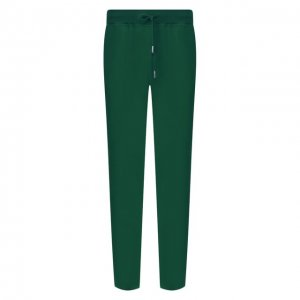 Хлопковые брюки Kiton. Цвет: зелёный