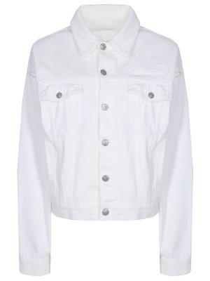 Куртка джинсовая хлопковая MM6. Цвет: белый