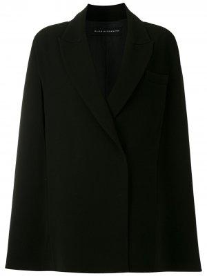 Пальто с разрезами на рукавах Gloria Coelho. Цвет: черный