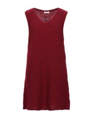 Короткое платье AMERICAN VINTAGE. Цвет: красно-коричневый