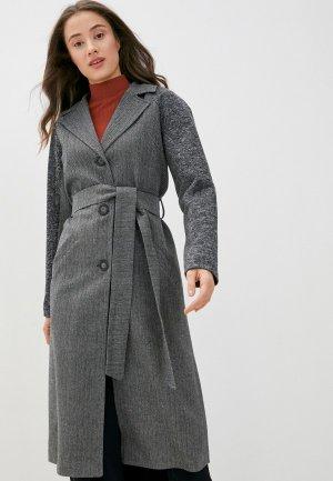 Пальто Bezko. Цвет: серый