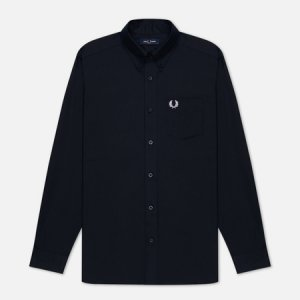 Мужская рубашка Oxford Fred Perry. Цвет: синий
