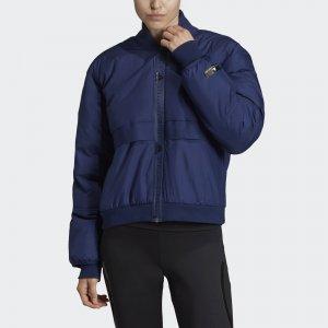 Утепленная куртка-бомбер Athletics by Stella McCartney adidas. Цвет: темно-синий