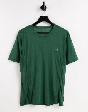 Спортивная футболка из полупрозрачного меланжевого трикотажа -Зеленый цвет ASOS 4505