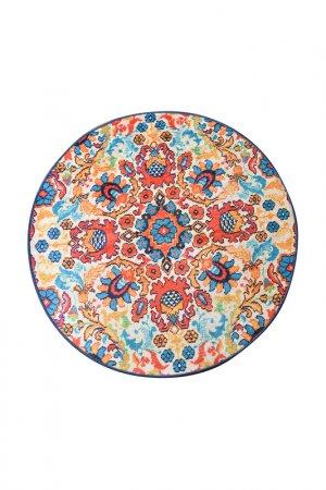 Коврик для ванной 100х100 см Chilai Home. Цвет: голубой, оранжевый