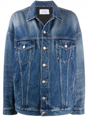 Джинсовая куртка оверсайз на пуговицах Givenchy. Цвет: синий