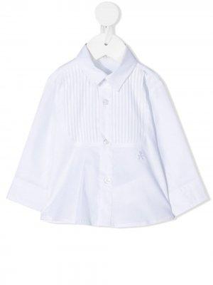 Рубашка строгого кроя с манишкой Le Bebé Enfant. Цвет: белый