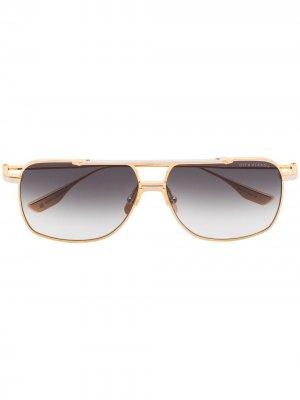 Солнцезащитные очки-авиаторы Alkamx Dita Eyewear. Цвет: золотистый