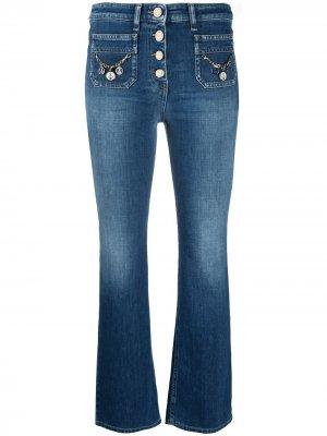 Укороченные джинсы средней посадки Elisabetta Franchi. Цвет: синий