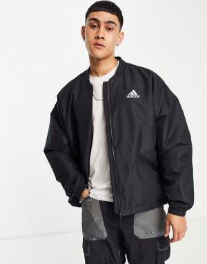 Черная утепленная куртка-дождевик adidas Outdoors Terrex-Черный цвет performance