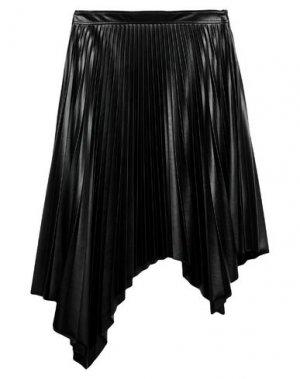 Юбка до колена SUOLI. Цвет: черный