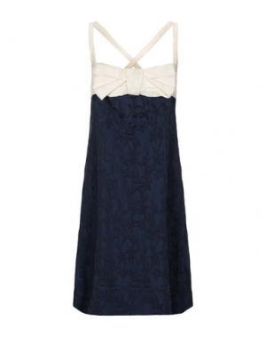 Короткое платье BURANI COLLEZIONI. Цвет: темно-синий