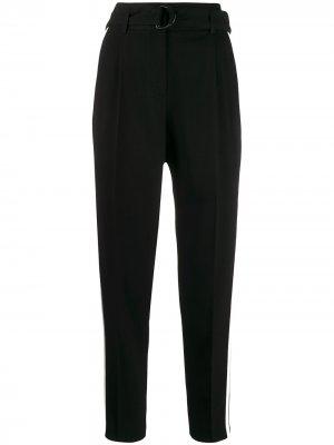 Зауженные брюки с лампасами Akris Punto. Цвет: черный