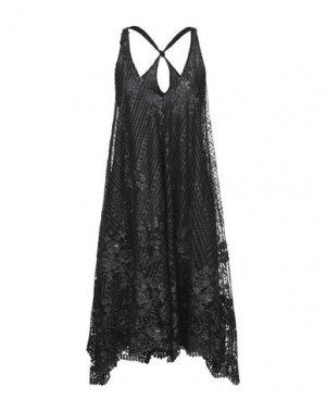 Платье до колена AGOGOA. Цвет: черный