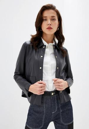 Куртка кожаная Max&Co DEMETRA. Цвет: синий