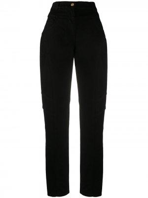 Прямые джинсы с завышенной талией Alberta Ferretti. Цвет: черный
